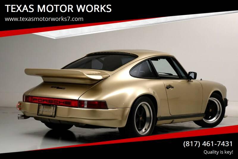1983 Porsche 911 for sale at TEXAS MOTOR WORKS in Arlington TX