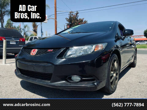 2013 Honda Civic for sale at AD Car Bros, Inc. in Whittier CA