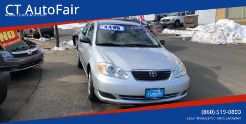2007 Toyota Corolla for sale at CT AutoFair in West Hartford CT