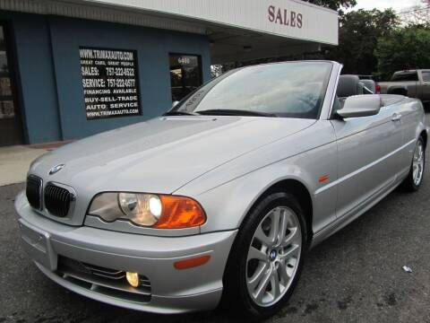 2002 BMW 3 Series for sale at Trimax Auto Group in Norfolk VA