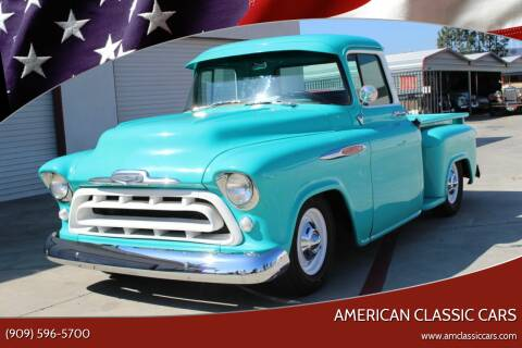 1957 Chevrolet 3100 for sale at American Classic Cars in La Verne CA