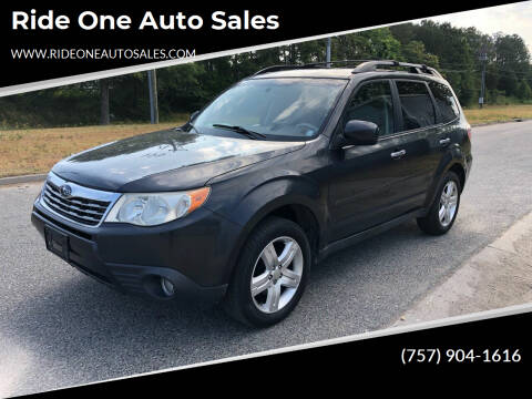 2010 Subaru Forester for sale at Ride One Auto Sales in Norfolk VA