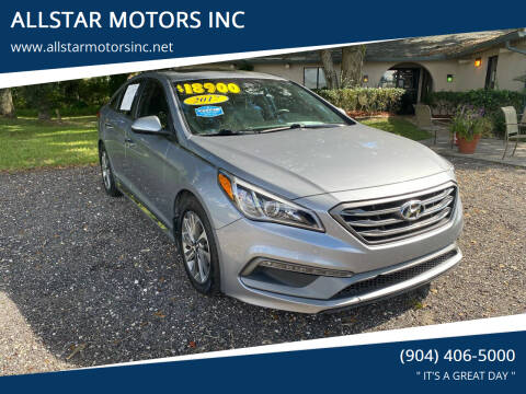 2017 Hyundai Sonata for sale at ALLSTAR MOTORS INC in Middleburg FL
