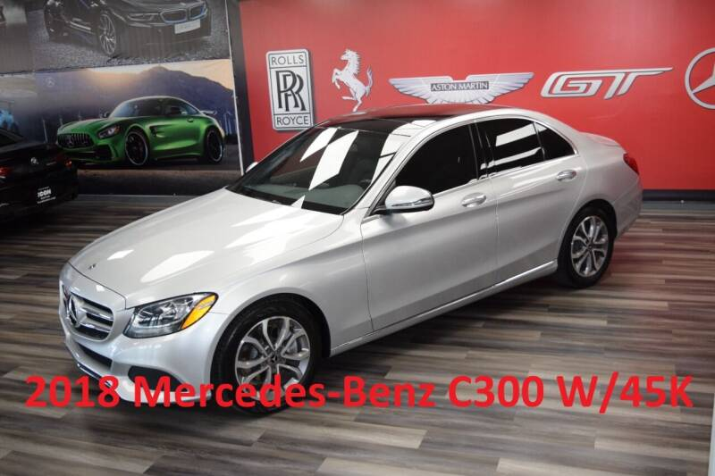 2018 Mercedes-Benz C-Class for sale at Icon Exotics in Houston TX