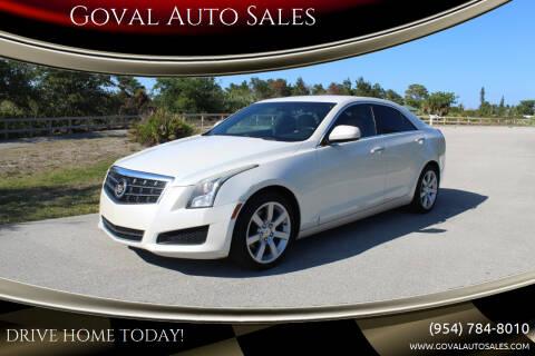 2013 Cadillac ATS for sale at Goval Auto Sales in Pompano Beach FL