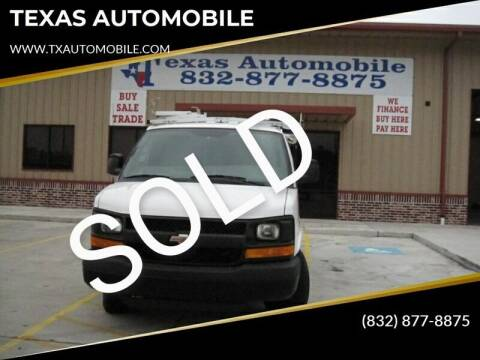 2013 Chevrolet Express Cargo for sale at TEXAS AUTOMOBILE in Houston TX