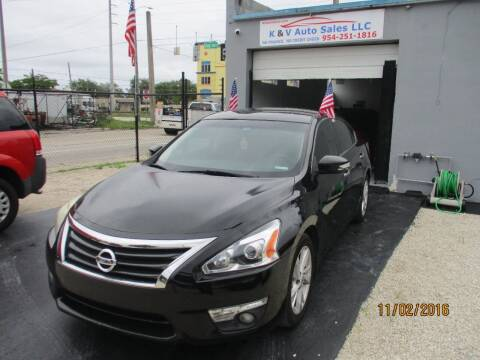 2015 Nissan Altima for sale at K & V AUTO SALES LLC in Hollywood FL
