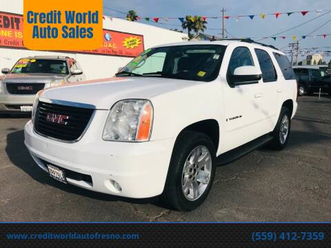2009 GMC Yukon for sale at Credit World Auto Sales in Fresno CA