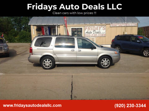 2005 Buick Terraza for sale at Fridays Auto Deals LLC in Oshkosh WI