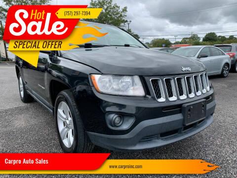2011 Jeep Compass for sale at Carpro Auto Sales in Chesapeake VA