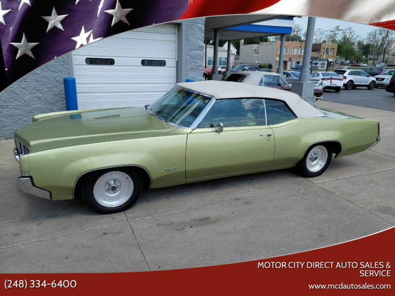 1969 Oldsmobile Delta Eighty-Eight for sale at Motor City Direct Auto Sales & Service in Pontiac MI