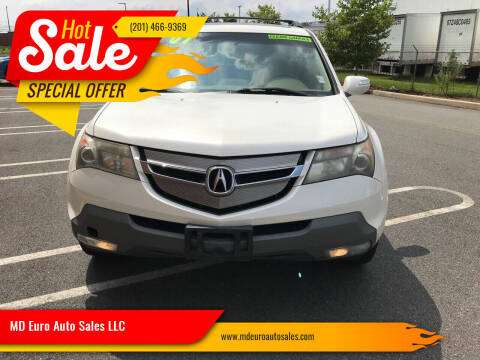 2007 Acura MDX for sale at MD Euro Auto Sales LLC in Hasbrouck Heights NJ