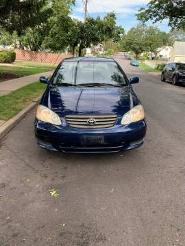 2003 Toyota Corolla for sale at Pak1 Trading LLC in South Hackensack NJ