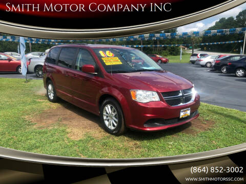 2016 Dodge Grand Caravan for sale at Smith Motor Company INC in Mc Cormick SC