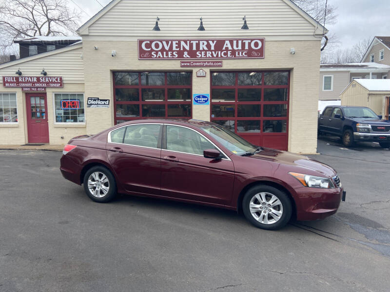 2009 Honda Accord for sale at COVENTRY AUTO SALES in Coventry CT