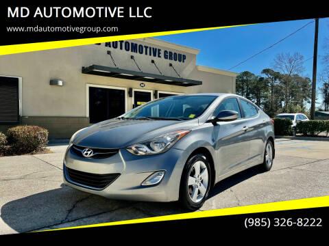 2012 Hyundai Elantra for sale at MD AUTOMOTIVE LLC in Slidell LA