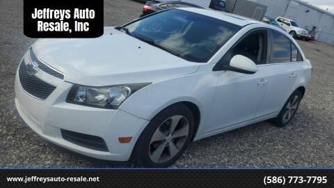2011 Chevrolet Cruze for sale at Jeffreys Auto Resale, Inc in Clinton Township MI