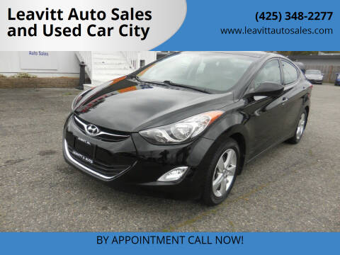 2013 Hyundai Elantra for sale at Leavitt Auto Sales and Used Car City in Everett WA