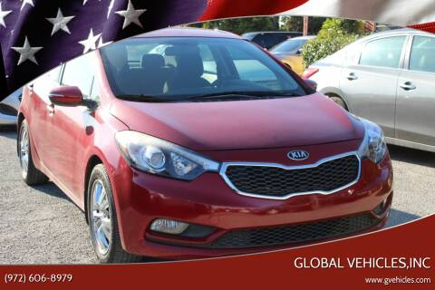 2014 Kia Forte for sale at Global Vehicles,Inc in Irving TX