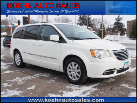 2012 Chrysler Town and Country for sale at Koehn Auto Sales in Lindstrom MN
