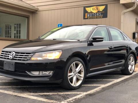 2013 Volkswagen Passat for sale at MGM Motors LLC in De Soto KS