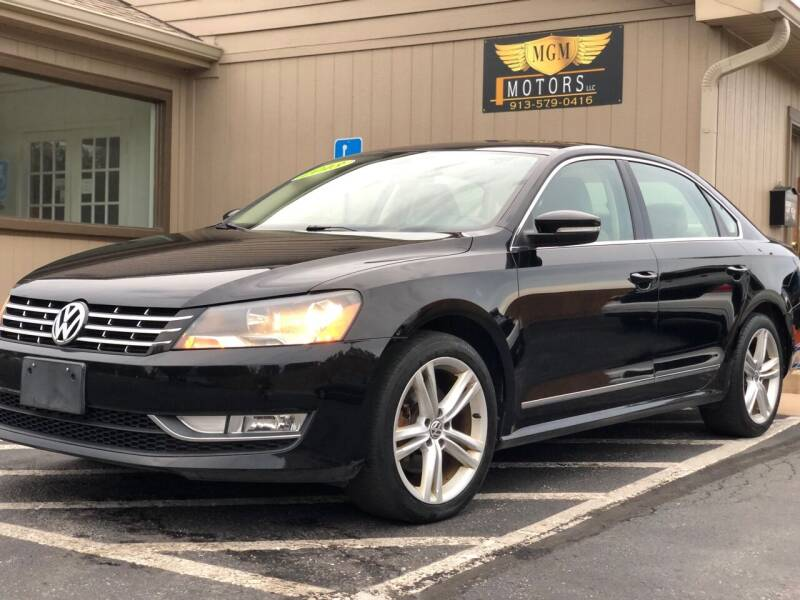 2013 Volkswagen Passat for sale at MGM Motors LLC in De Soto KS