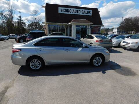 2017 Toyota Camry for sale at Econo Auto Sales Inc in Raleigh NC