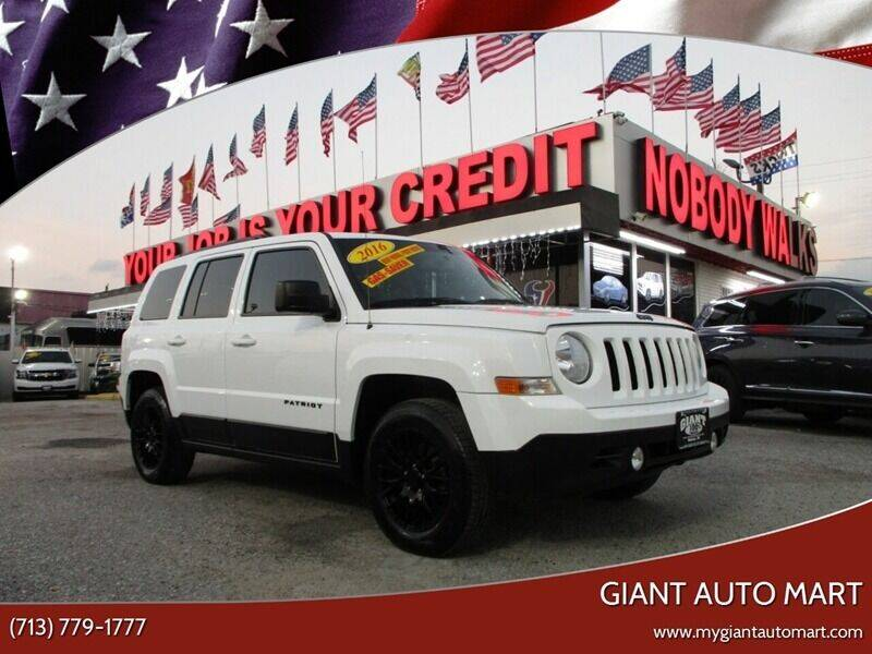 2016 Jeep Patriot for sale at Giant Auto Mart 2 in Houston TX