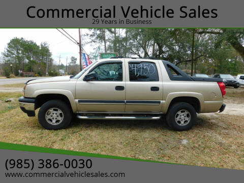 2005 Chevrolet Avalanche for sale at Commercial Vehicle Sales in Ponchatoula LA