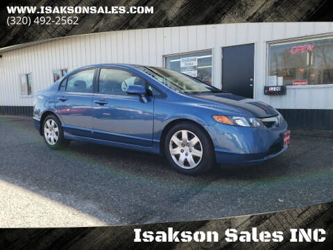 2007 Honda Civic for sale at Isakson Sales INC in Waite Park MN