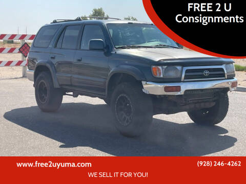 1996 Toyota 4Runner for sale at FREE 2 U Consignments in Yuma AZ