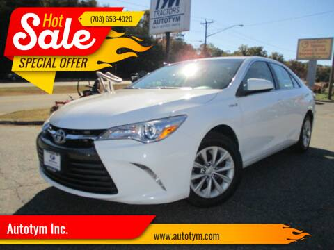 2016 Toyota Camry Hybrid for sale at AUTOTYM INC in Fredericksburg VA