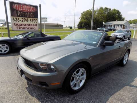 2010 Ford Mustang for sale at MYLENBUSCH AUTO SOURCE in O'Fallon MO