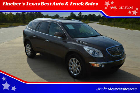 2012 Buick Enclave for sale at Fincher's Texas Best Auto & Truck Sales in Tomball TX