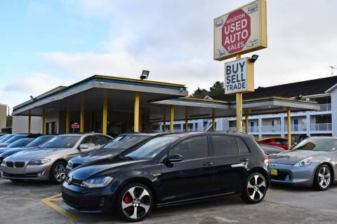 2017 Volkswagen Golf GTI for sale at Houston Used Auto Sales in Houston TX