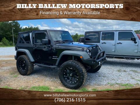 2011 Jeep Wrangler for sale at Billy Ballew Motorsports in Dawsonville GA