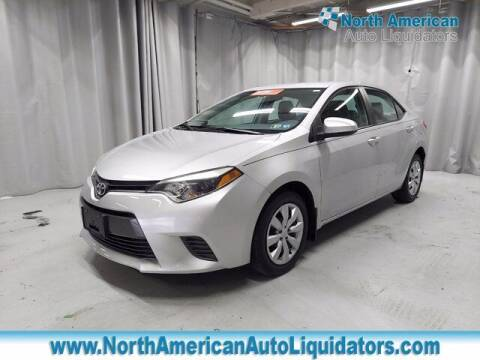 2016 Toyota Corolla for sale at North American Auto Liquidators in Essington PA