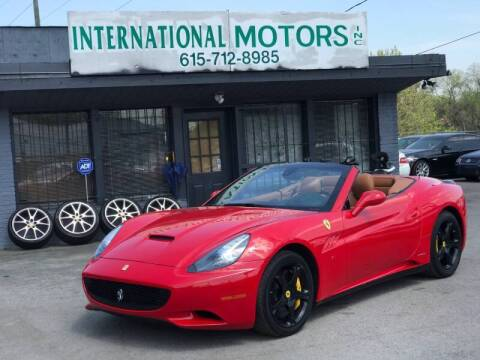 2010 Ferrari California for sale at International Motors Inc. in Nashville TN