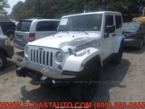 2017 Jeep Wrangler for sale at East Coast Auto Source Inc. in Bedford VA