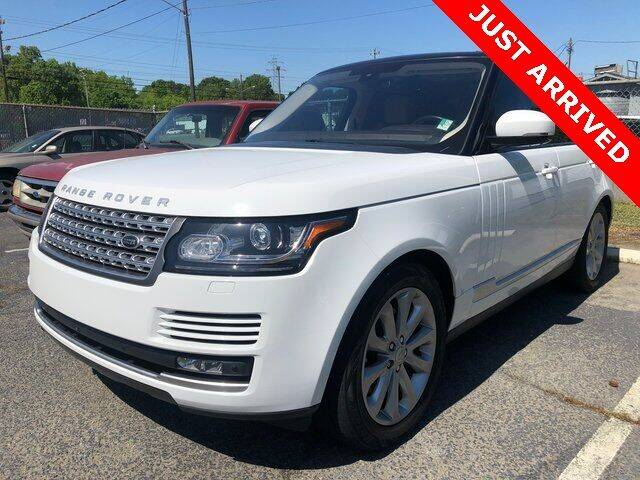 2016 Land Rover Range Rover for sale at Brandon Reeves Auto World in Monroe NC