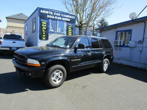 1999 Dodge Durango for sale at ARISTA CAR COMPANY LLC in Portland OR