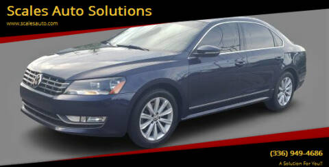2012 Volkswagen Passat for sale at Scales Auto Solutions in Madison NC