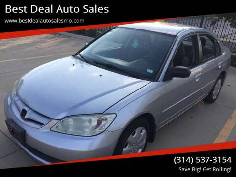 2005 Honda Civic for sale at Best Deal Auto Sales in Saint Charles MO