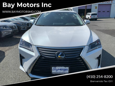 2018 Lexus RX 350 for sale at Bay Motors Inc in Baltimore MD