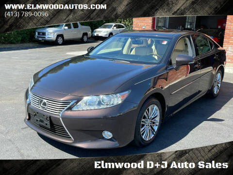 2013 Lexus ES 350 for sale at Elmwood D+J Auto Sales in Agawam MA