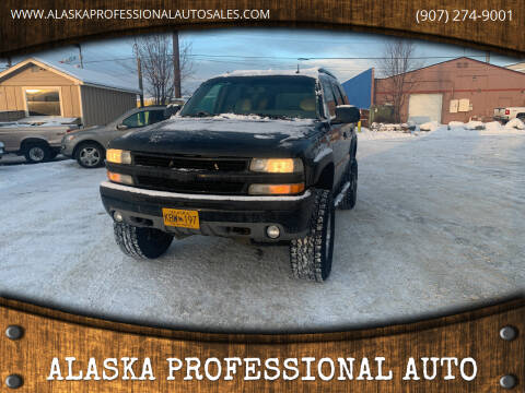 2003 Chevrolet Tahoe for sale at ALASKA PROFESSIONAL AUTO in Anchorage AK