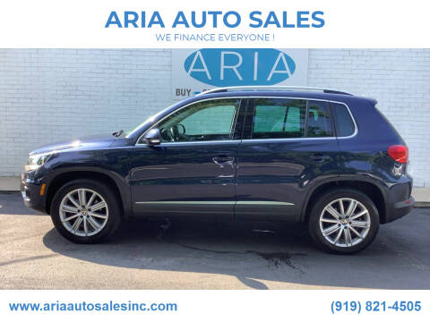 2012 Volkswagen Tiguan for sale at ARIA  AUTO  SALES in Raleigh NC