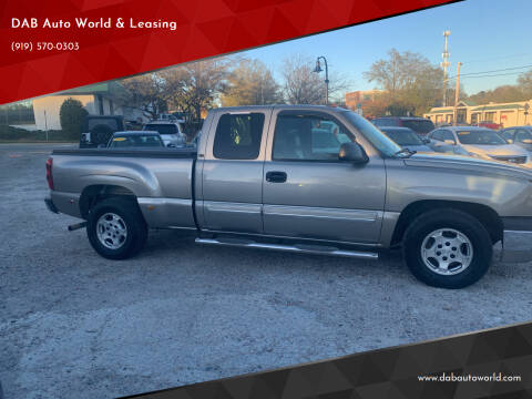 2003 Chevrolet Silverado 1500 for sale at DAB Auto World & Leasing in Wake Forest NC