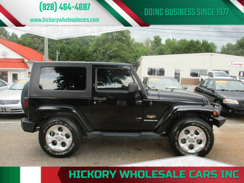 2008 Jeep Wrangler for sale at Hickory Wholesale Cars Inc in Newton NC