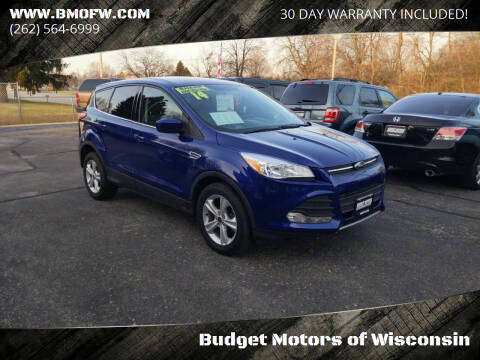 2014 Ford Escape for sale at Budget Motors of Wisconsin in Racine WI